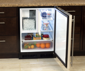 24 Refrigerator and Freezer with Crescent Ice Maker and MaxStore Utility Bin (Marvel)