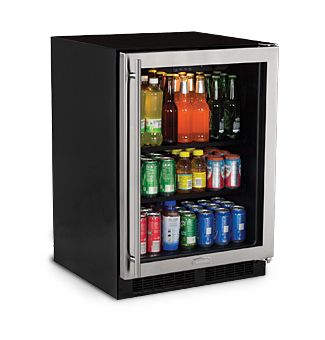 "Model: ML24BCG0RS | Marvel  Marvel 24"" Beverage Center Stainless Frame Glass Door  Right Hinge"