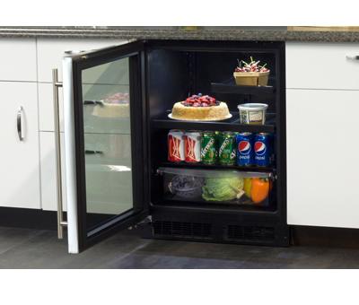 "Model: MA24BRG3LS | Marvel  Marvel 24"" ADA Height Beverage Refrigerator- Stainless Frame, Glass Door With Lock Left Hinge"