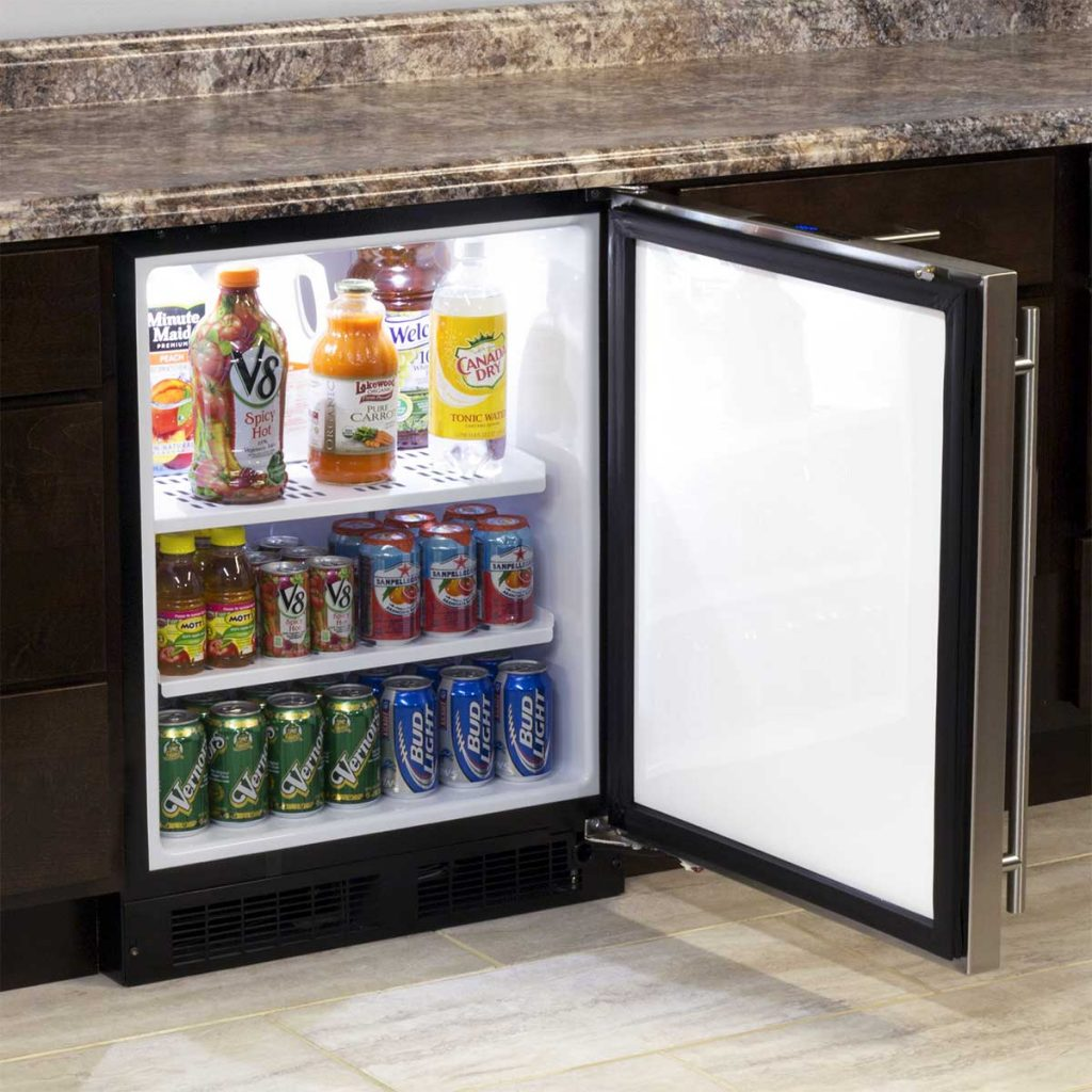 """Model: MA24RAS1RS   Marvel  Marvel 24"""" ADA Height All Refrigerator-Solid Stainless Steel Door  Right Hinge"""