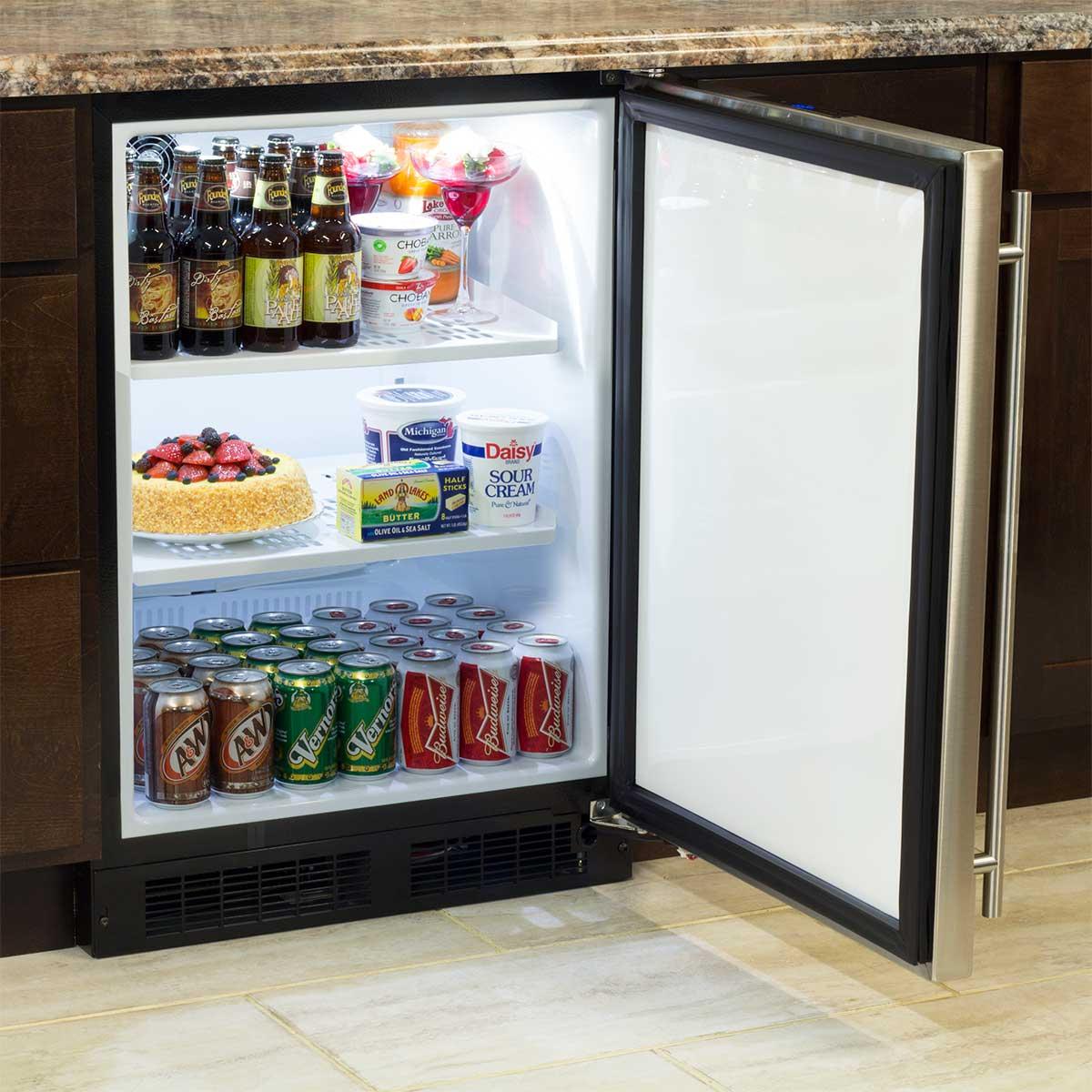 "Model: ML24RAS1RS | Marvel  Marvel 24"" All Refrigerator-Solid Stainless Steel Door  Right Hinge"