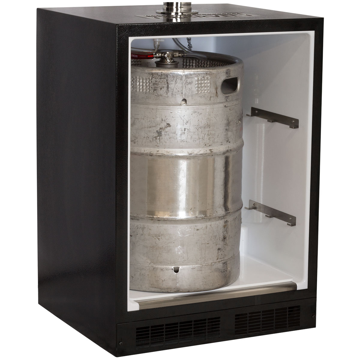 Marvel Built-In Indoor Twin Tap Beer Dispenser-Solid Stainless Steel Door Right Hinge