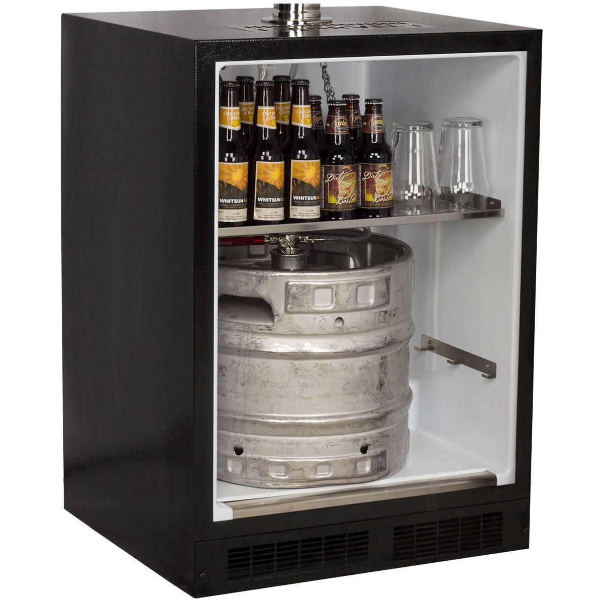 Marvel Built-In Indoor Twin Tap Beer Dispenser-Solid Stainless Steel Door Left Hinge