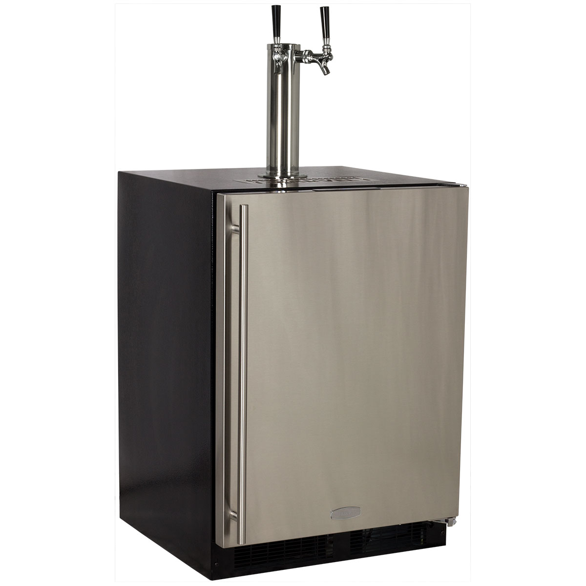 Marvel Built-In Indoor Twin Tap Beer Dispenser- Solid Panel Overlay Ready Door Integrated Left Hinge