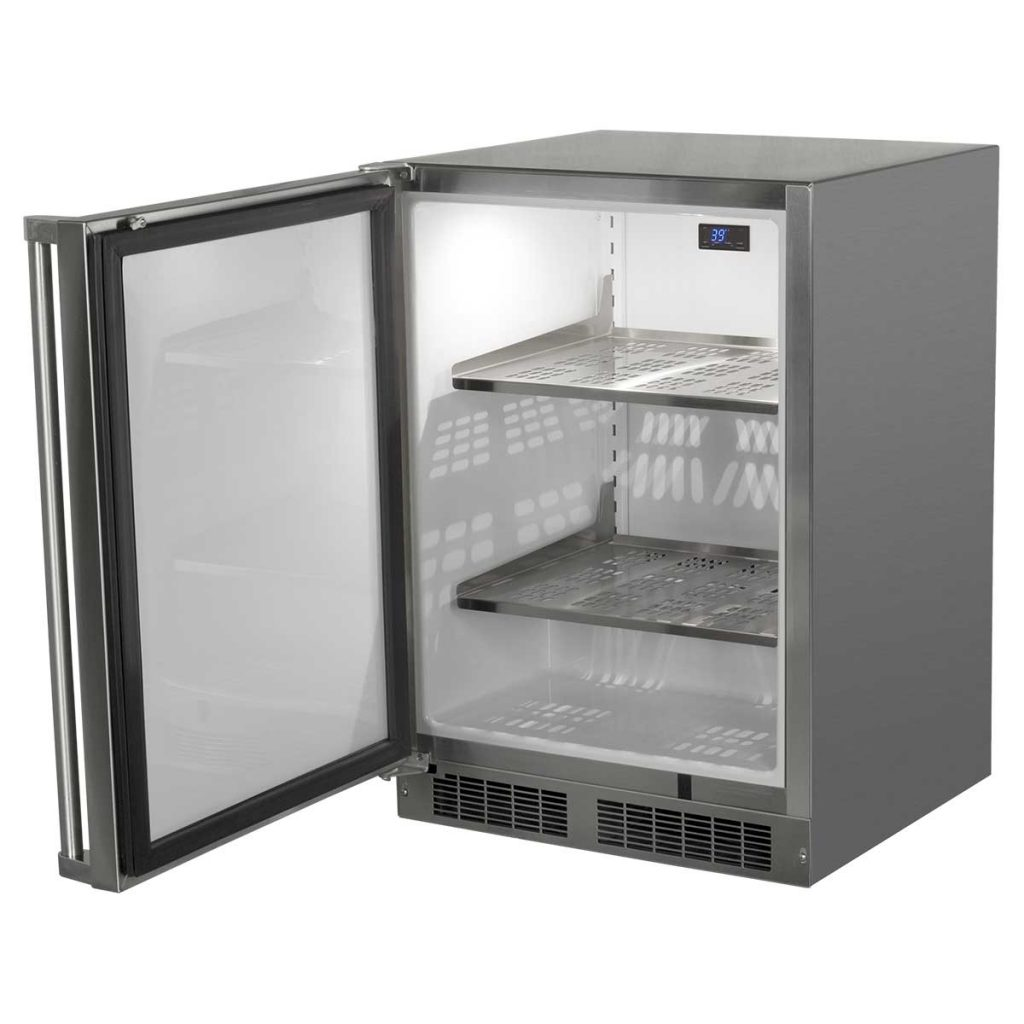 "Model: MO24RAS1RS | Marvel  24"" Marvel Outdoor Refrigerator-Solid Stainless Steel Door with Lock Right Hinge"