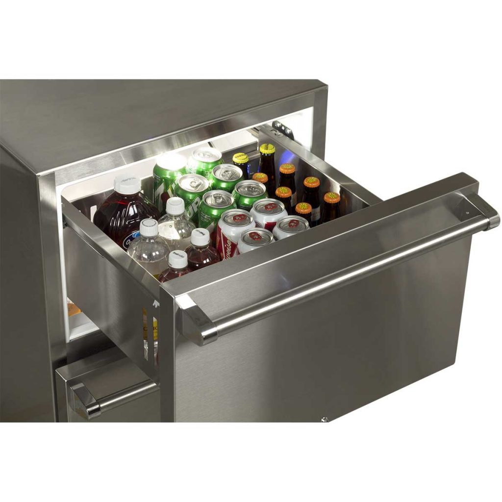 "Marvel  24"" Marvel Outdoor Refrigerated Drawers-Solid Stainless With Lock"