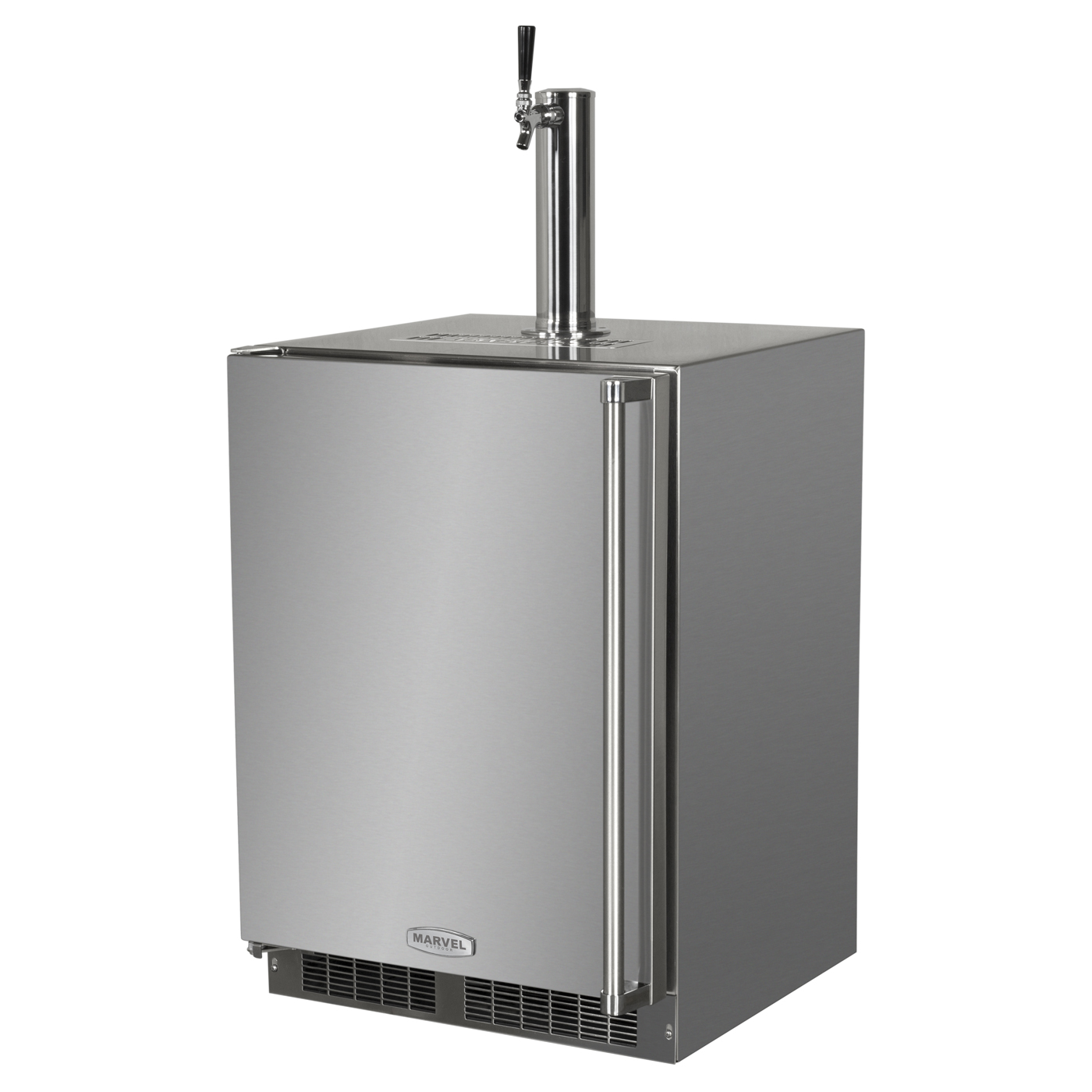 "Model: MO24BSS2RS | Marvel  Outdoor 24"" Single Tap Built In Beer Dispenser with Stainless Steel Door"