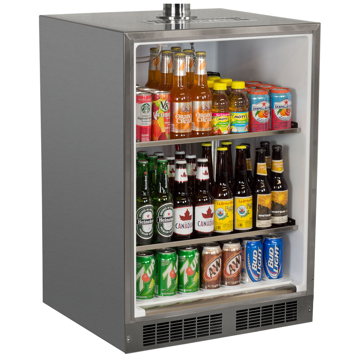 "Model: MO24BTS2LS | Marvel  Outdoor 24"" Twin Tap Built In Beer Dispenser with Stainless Steel Door"