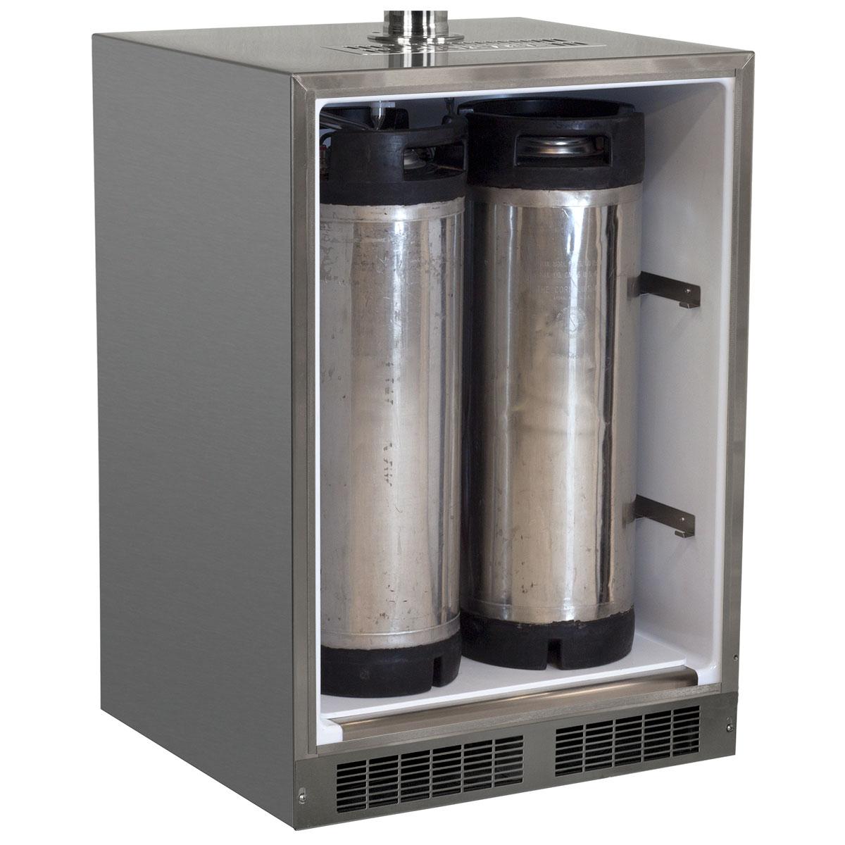 "Model: MO24BSSMRS   Marvel  24"" Outdoor Single Tap Mobile Beer Dispenser with Stainless Steel Door"