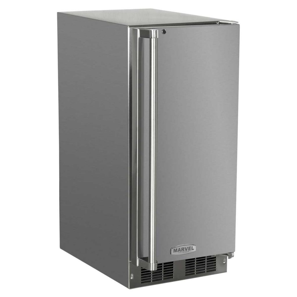 "Marvel  15"" Marvel Outdoor Refrigerator-Solid Stainless Steel Door with Lock Right Hinge"