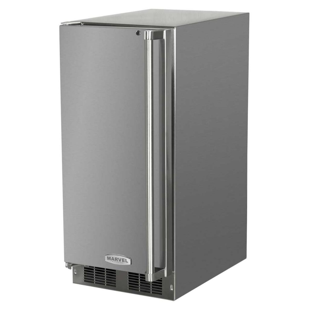 """Model: MO15RAS2LS   Marvel  15"""" Marvel Outdoor Refrigerator-Solid Stainless Steel Door with Lock Left Hinge"""
