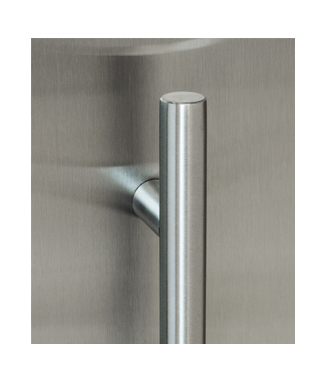 Slim Low Profile ADA Door Handle   Stainless Steel
