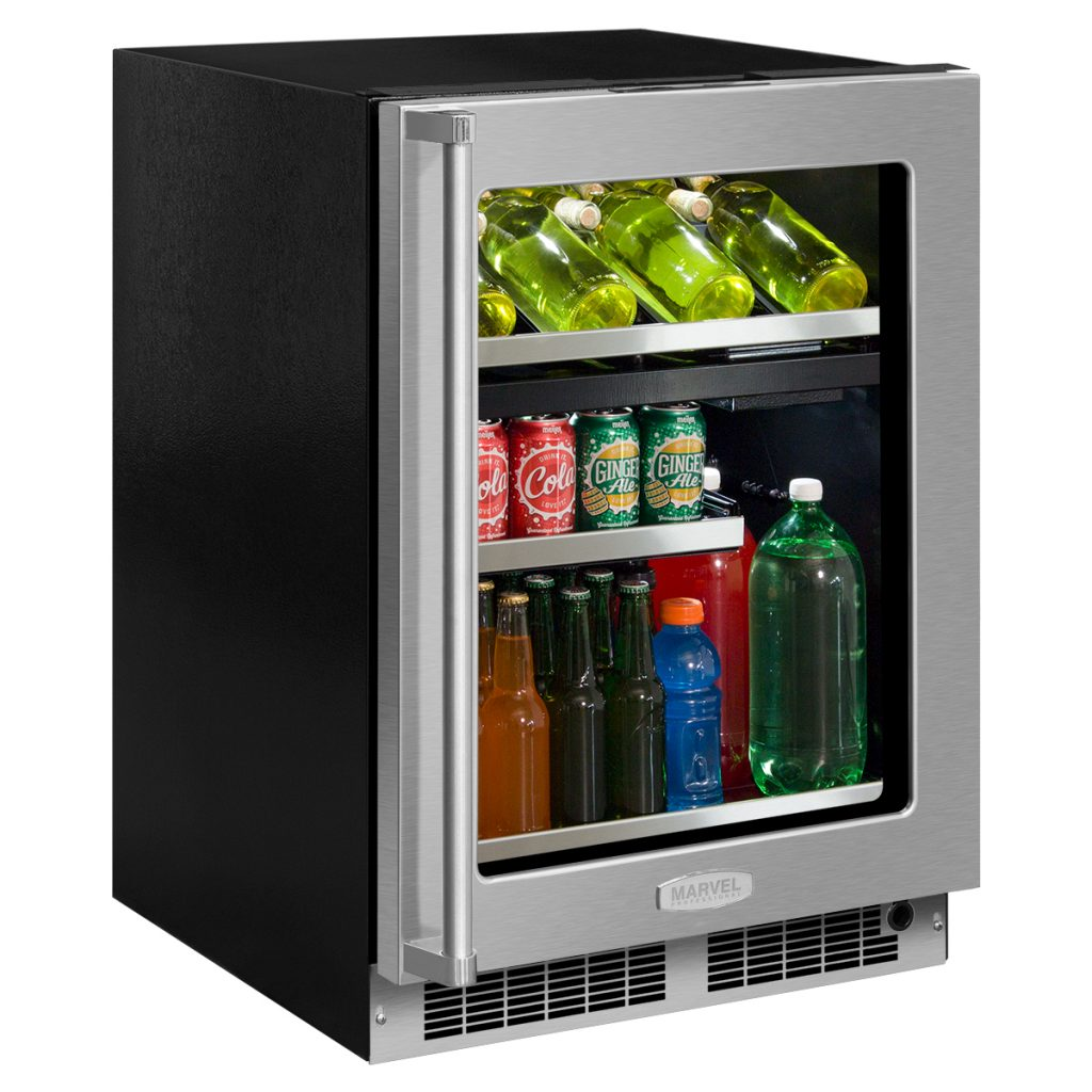"Marvel  Marvel Professional 24"" Dual Zone Wine and Beverage Center- Integrated Right Hinge,"