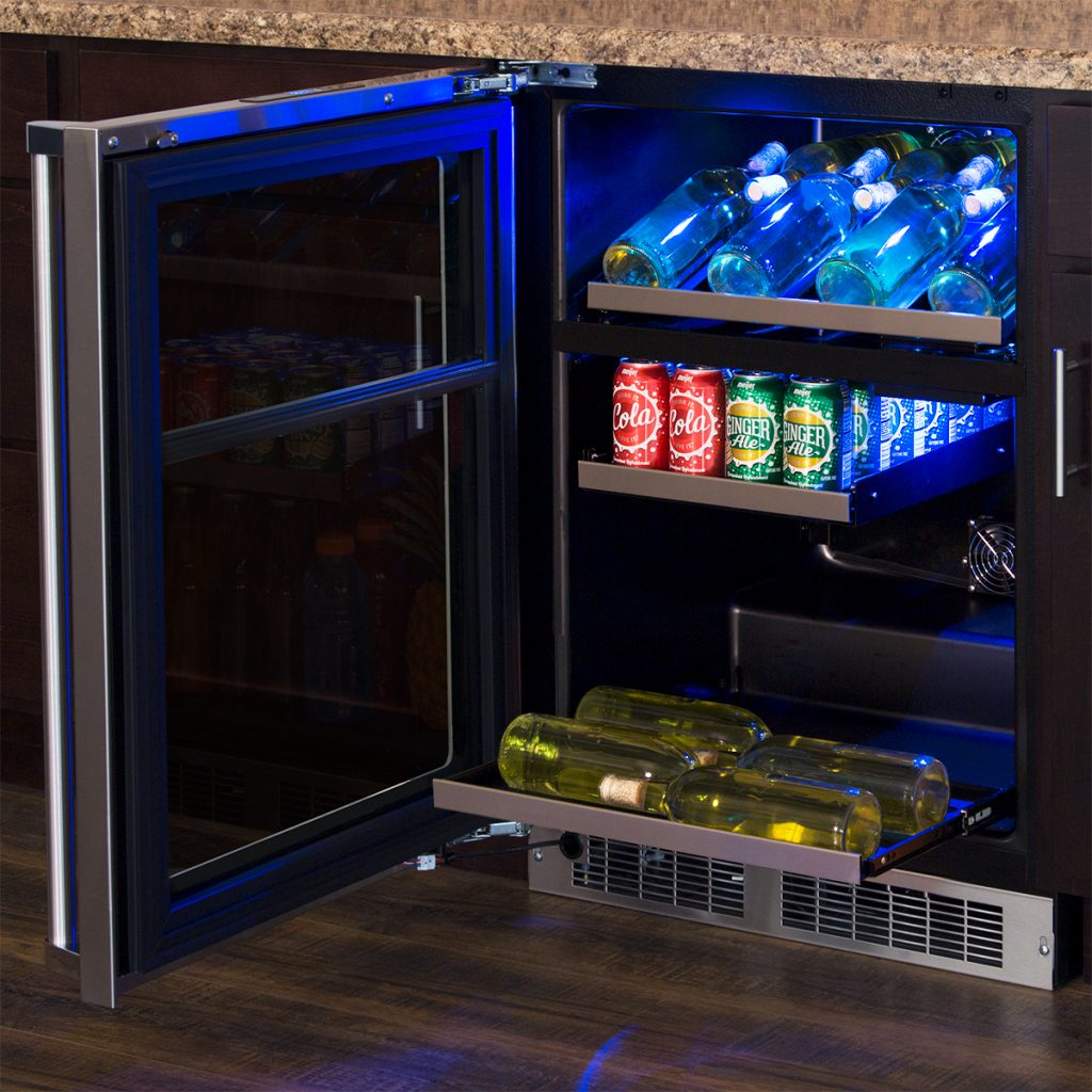 "Model: MP24WBG4RS | Marvel  Marvel Professional 24"" Dual Zone Wine and Beverage Center- Integrated Right Hinge,"