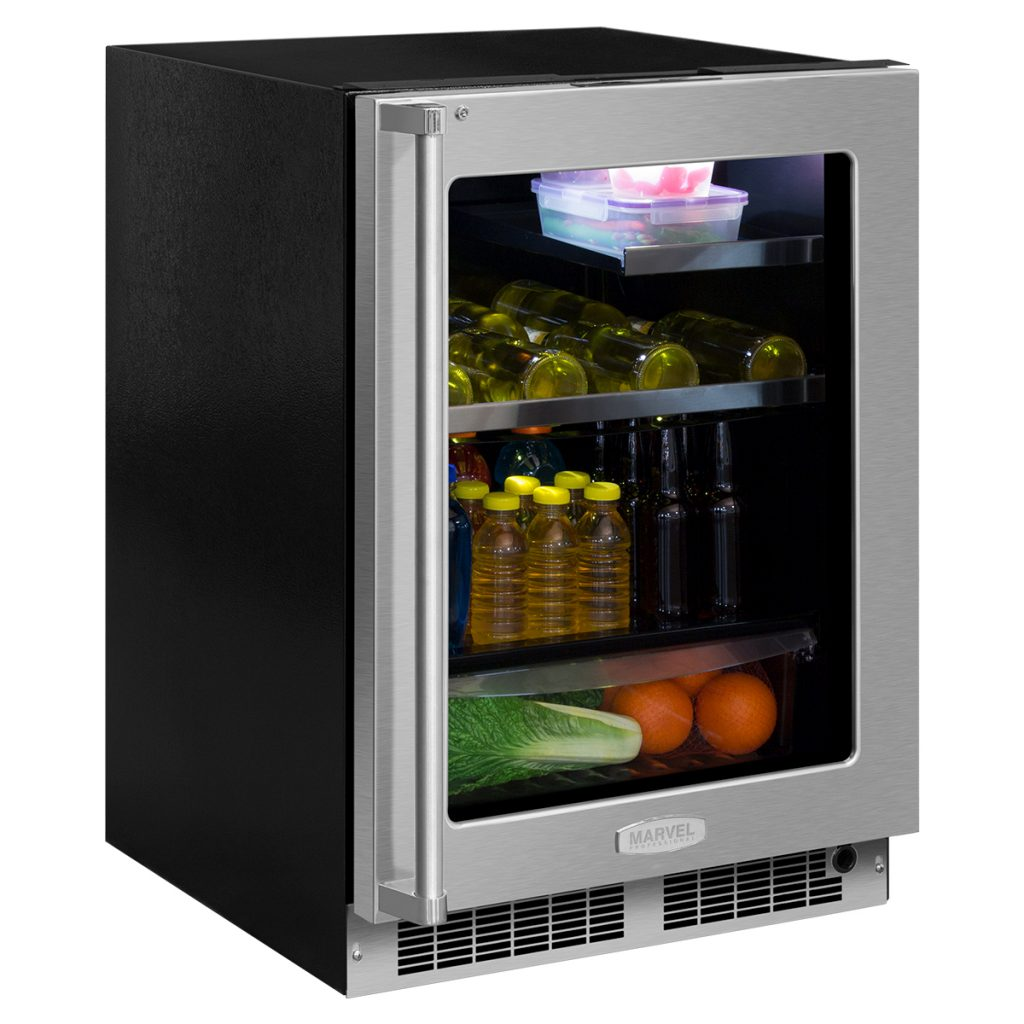 "Marvel  Marvel Professional 24"" Beverage Refrigerator with Drawer-Integrated Left Hinge, Professional Handle"