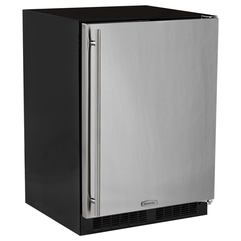 "Marvel  24"" Marvel All Freezer-Stainless Steel Door  Left Hinge"