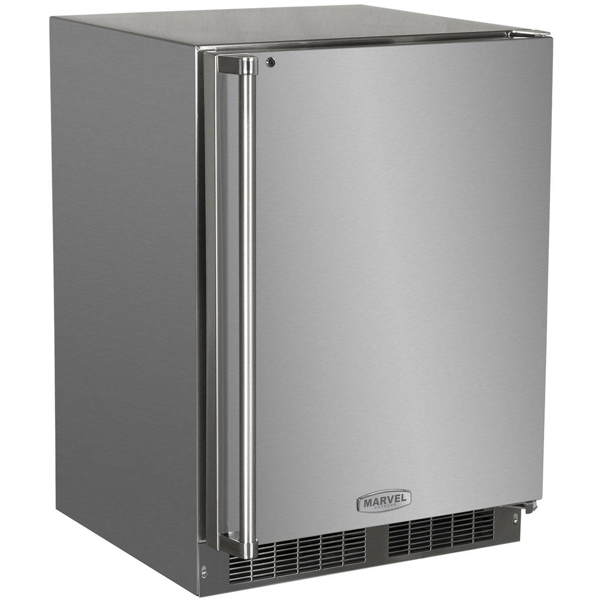 """Marvel  24"""" Marvel Outdoor All Freezer-24? Outdoor All FreezerSolid Stainless Steel Door with Lock"""