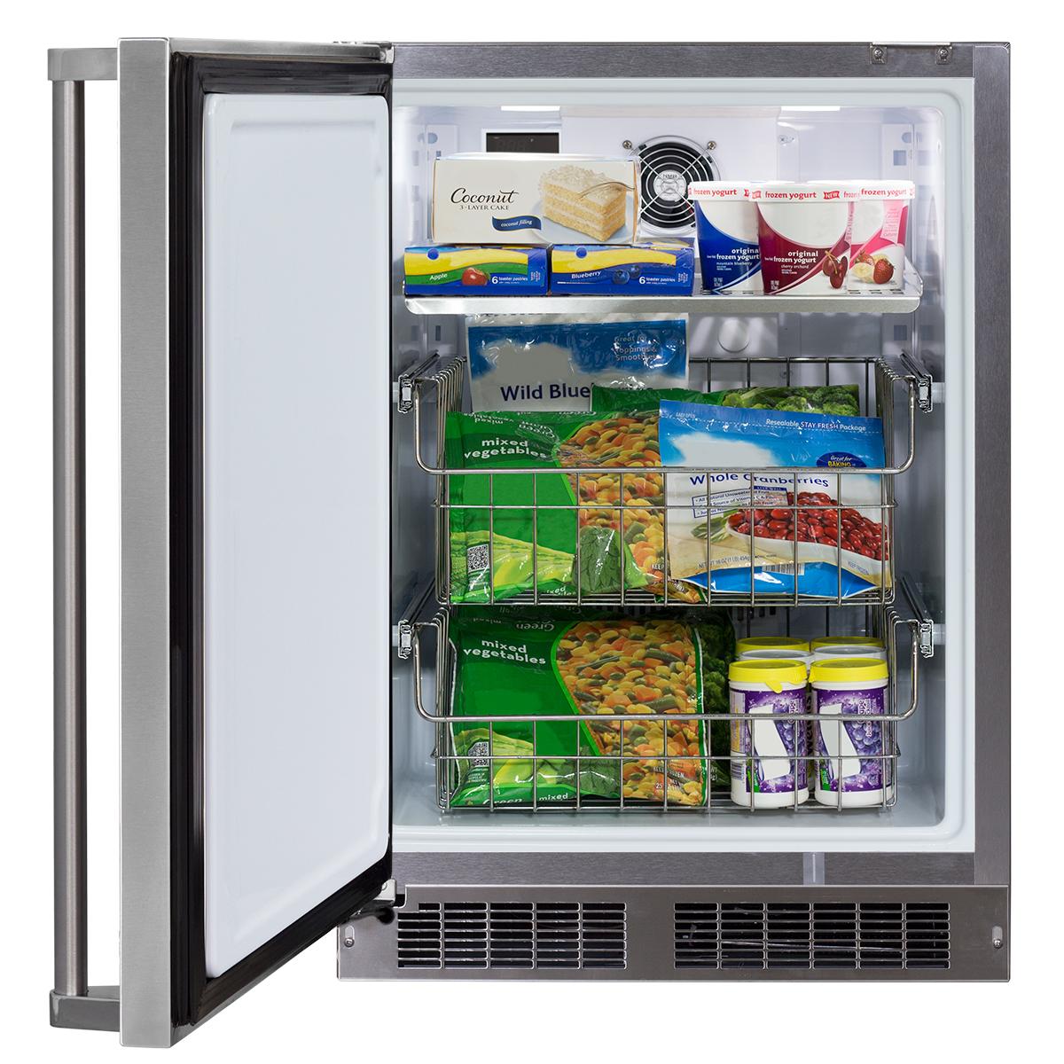"Model: MO24FAS1LS   Marvel  24"" Marvel Outdoor All Freezer-24? Outdoor All FreezerSolid Stainless Steel Door with Lock"