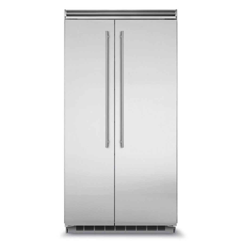 "Marvel  Marvel Professional Built-In 42"" Side-by-Side Refrigerator Freezer-Marvel Professional Built-In 42"" Side-by-Side Refrigerator Freezer  Stainless Steel Doors, Slim Designer Handles"