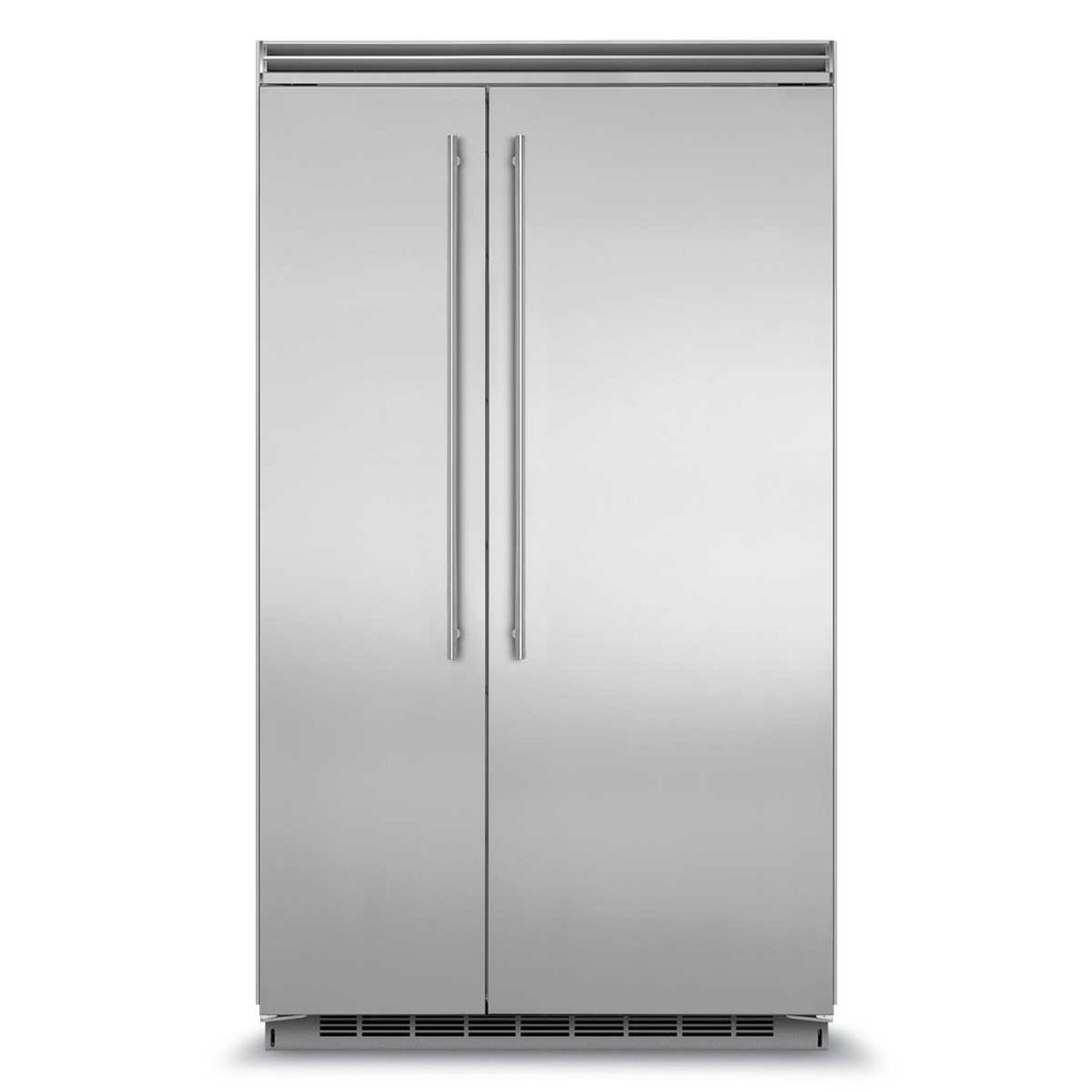 "Marvel  Marvel Professional Built-In 48"" Side-by-Side Refrigerator Freezer- Marvel Professional Built-In 48"" Side-by-Side Refrigerator Freezer  Stainless Steel Doors, Slim Designer Handles"