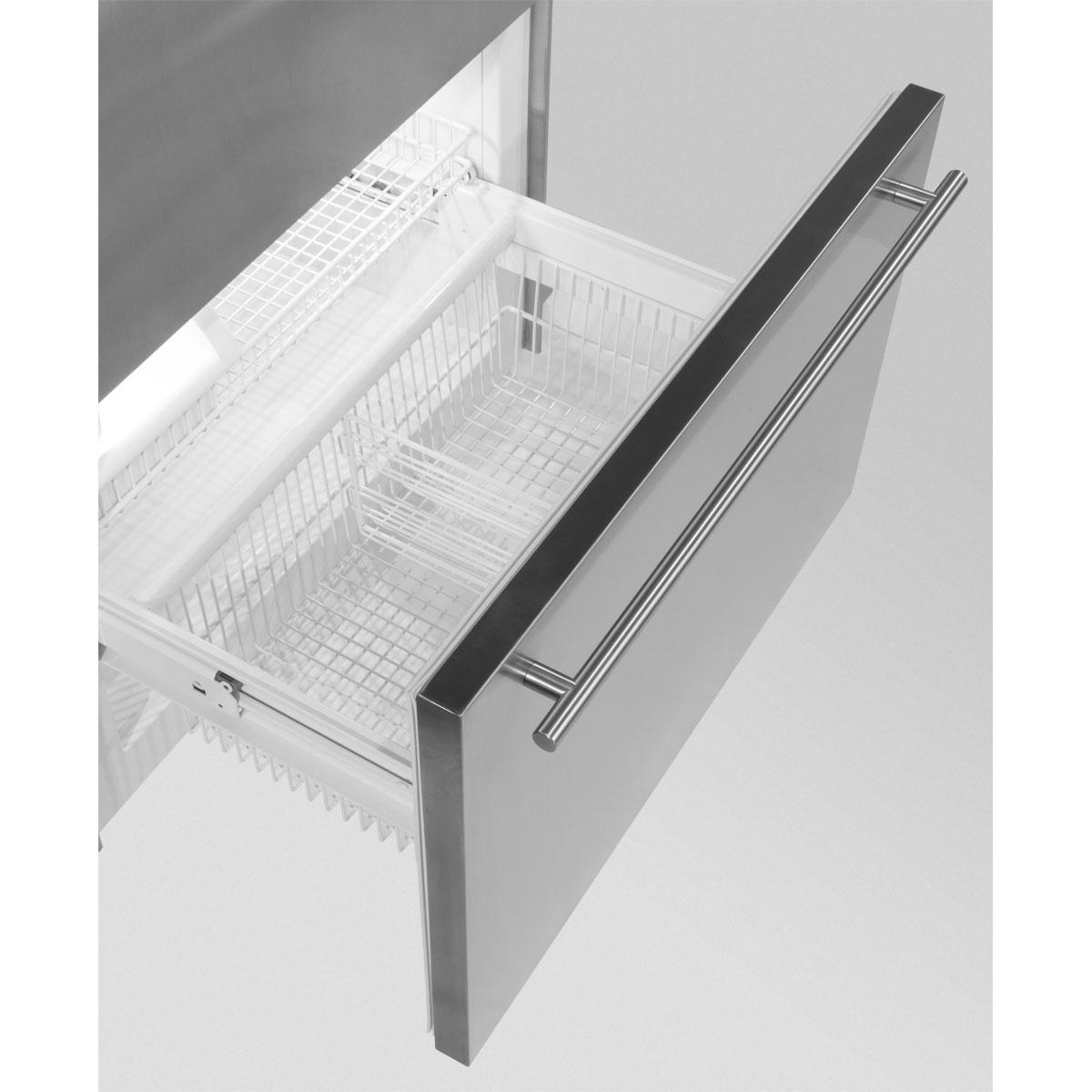 "Model: MP36BF2RS | Marvel  Marvel Professional Built-In 36"" Bottom Freezer Refrigerator- Solid Stainless Steel Door   Right Hinge, Slim Designer Handle"