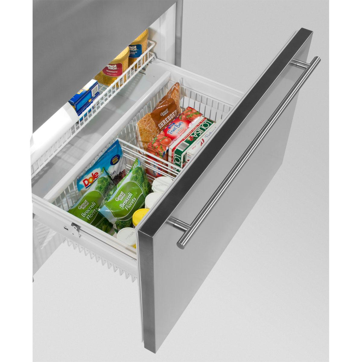 "Model: MP36BF2LP | Marvel  Marvel Professional Built-In 36"" Bottom Freezer Refrigerator- Panel-Ready Solid Overlay Door Left Hinge"