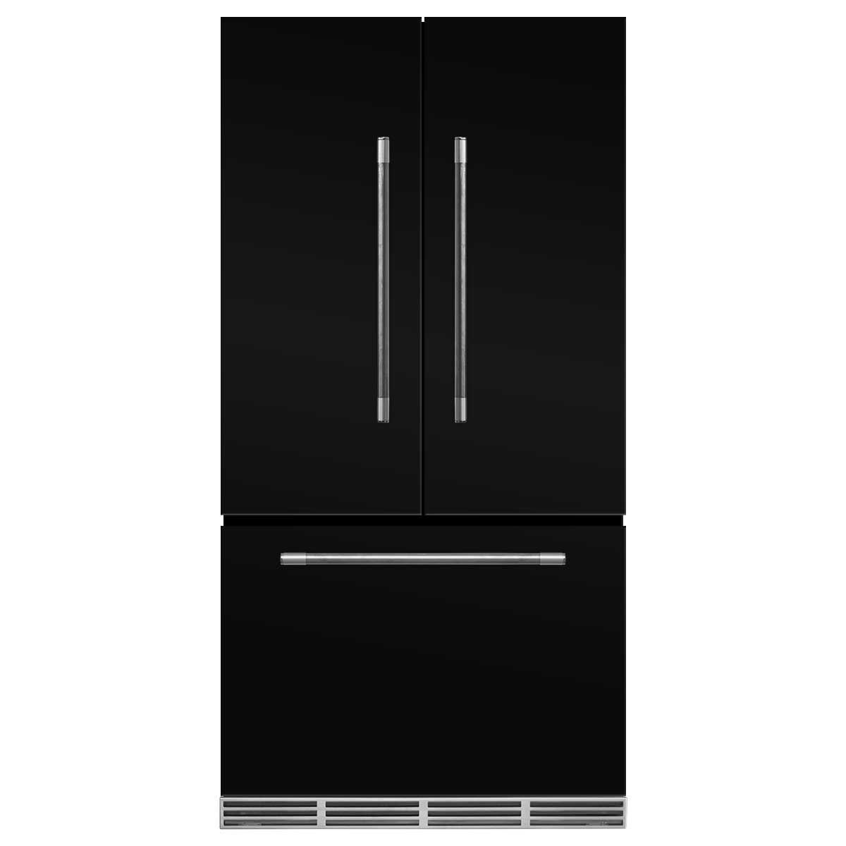 Marvel Mercury French Door Counter-Depth Refrigerator- Marvel Mercury French Door Refrigerator Gloos Black