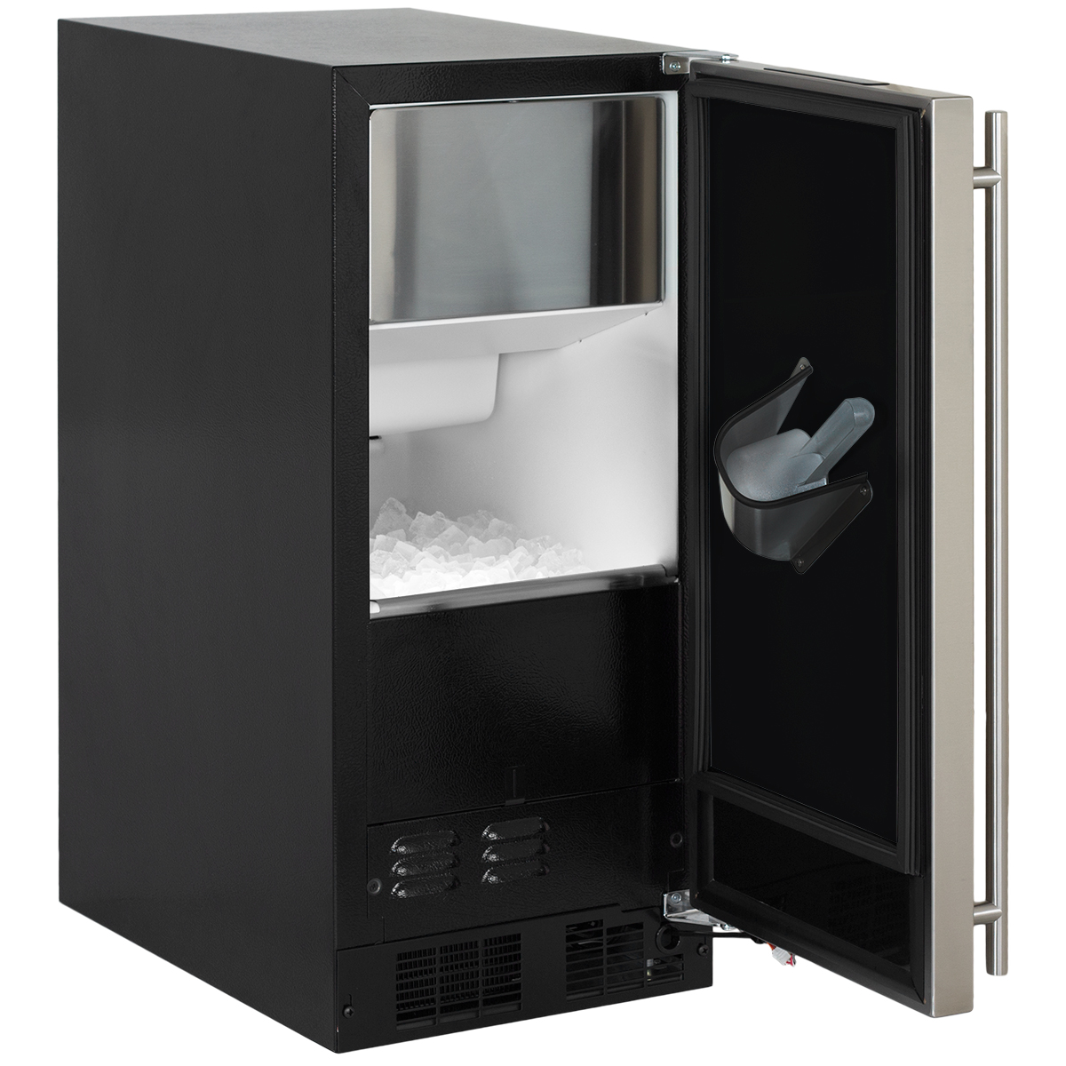 "Model: ML15CPS1RS | Marvel  15"" Marvel Clear Ice Machine  Factory Installed Pump Stainless Steel Door with Right Hing"