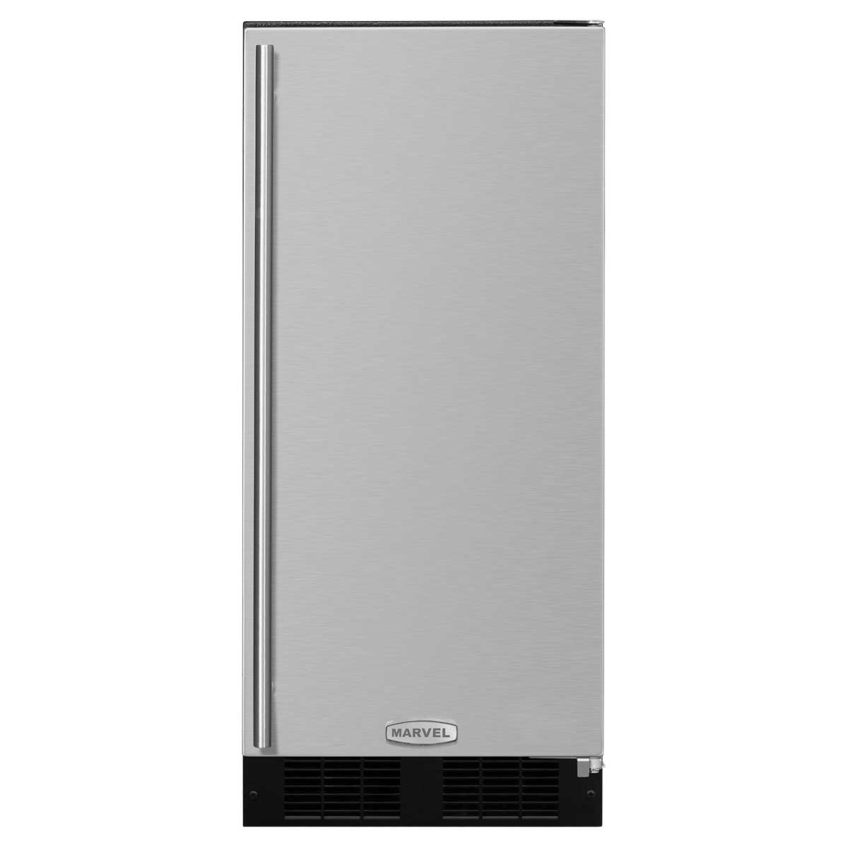 """Marvel  15"""" Marvel Clear Ice Machine Factory Installed Pump Panel-Ready Solid Overlay Door  Right Hinge"""