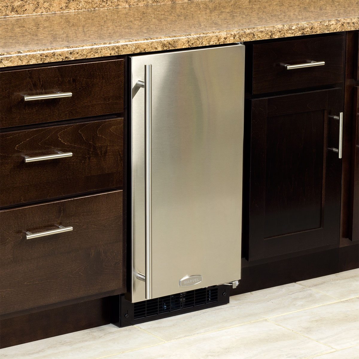 "Model: MA15CLP1RP | Marvel  15"" ADA Height Clear Ice Machine-Gravity Drain Panel-Ready Solid Overlay Door"