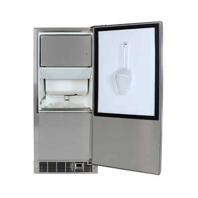 "Model: 3OiMT-SS-F-R | Marvel  15"" Marvel Outdoor Clear Ice Machine-Solid Stainless Steel Door   Right Hinge"