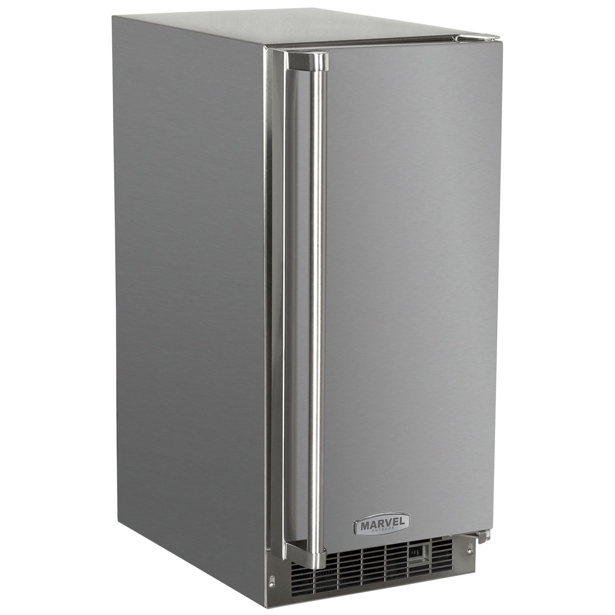 "Marvel  15"" Marvel Outdoor Clear Ice Machine-Solid Stainless Steel Door, with Factory Installed Drain Pump  Left Hinge"