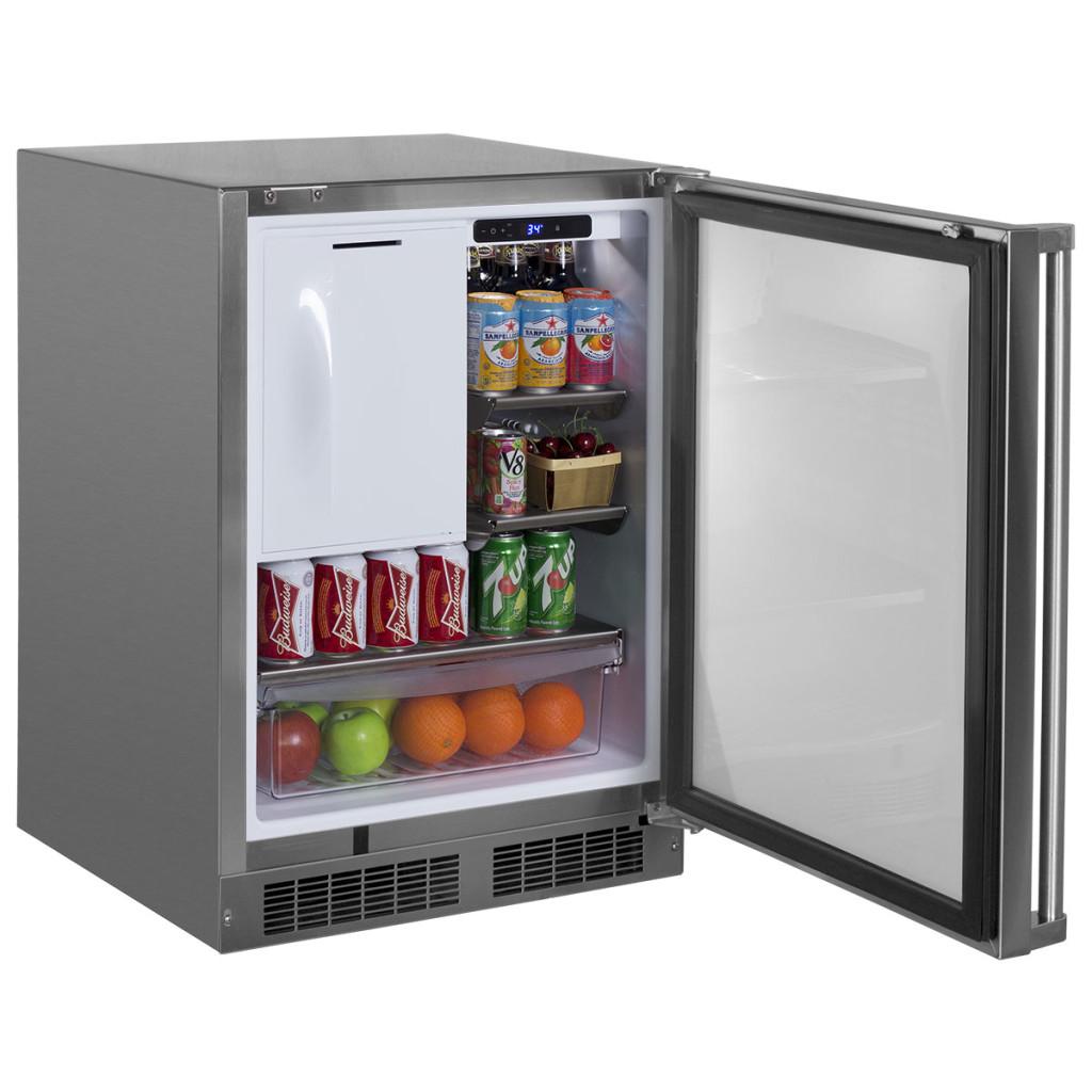 "Model: MO24RFS2RS | Marvel  24"" Outdoor Refrigerator/Freezer with Ice Maker Option"