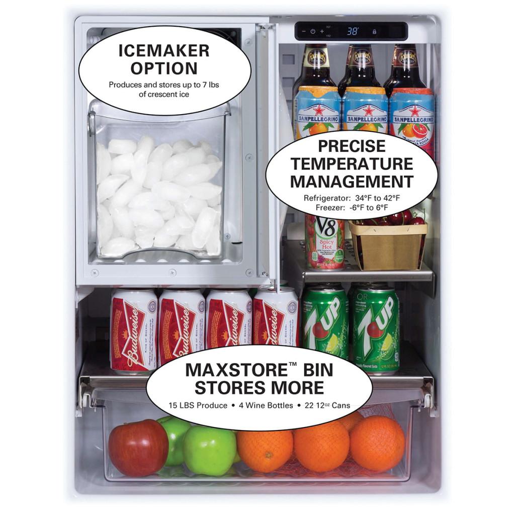 "Marvel  24"" Outdoor Refrigerator/Freezer with Ice Maker Option"