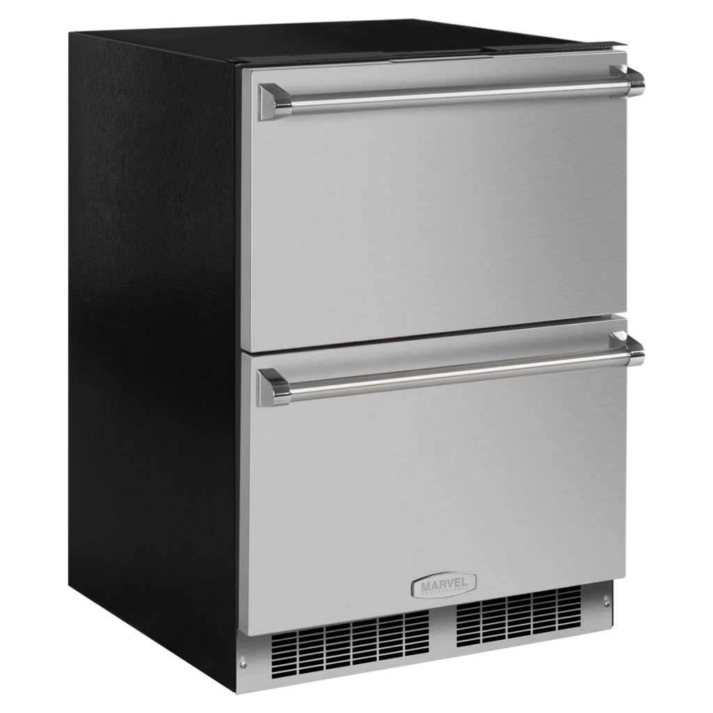 "Model: MP24RDS3NS | Marvel  Marvel Professional 24"" Refrigerated Drawers-Solid Stainless Steel Drawer Fronts, With Lock"