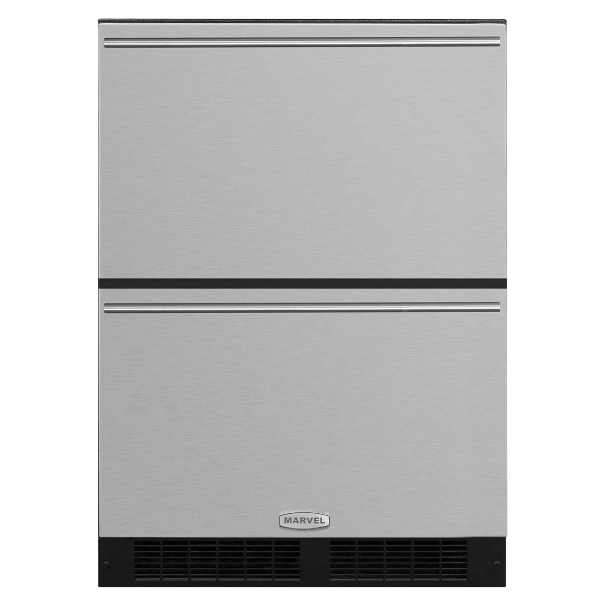 "Model: ML24RDS3NB | Marvel  Marvel 24"" Refrigerated Drawers-Solid Black Drawer Front, Black Handles"