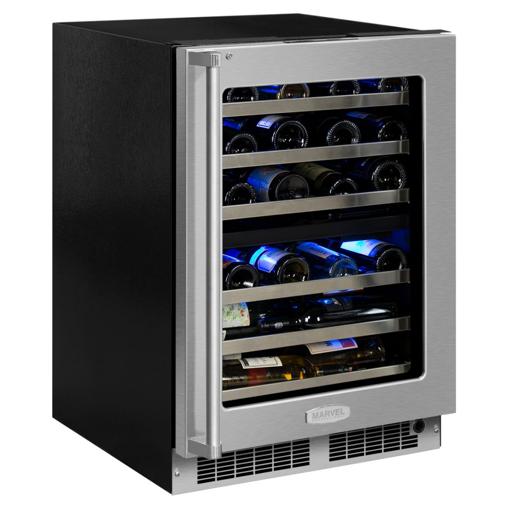 "Marvel  Marvel Professional 24"" High Efficiency Dual Zone Wine Refrigerator-Integrated Left Hinge"