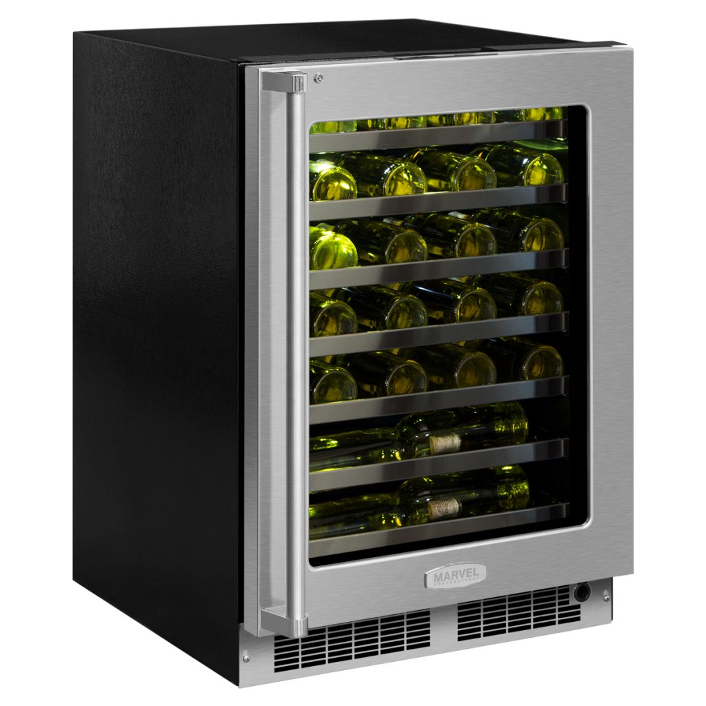 "Marvel  Marvel Professional 24"" High Efficiency Single Zone Wine Refrigerator- Stainless Frame"