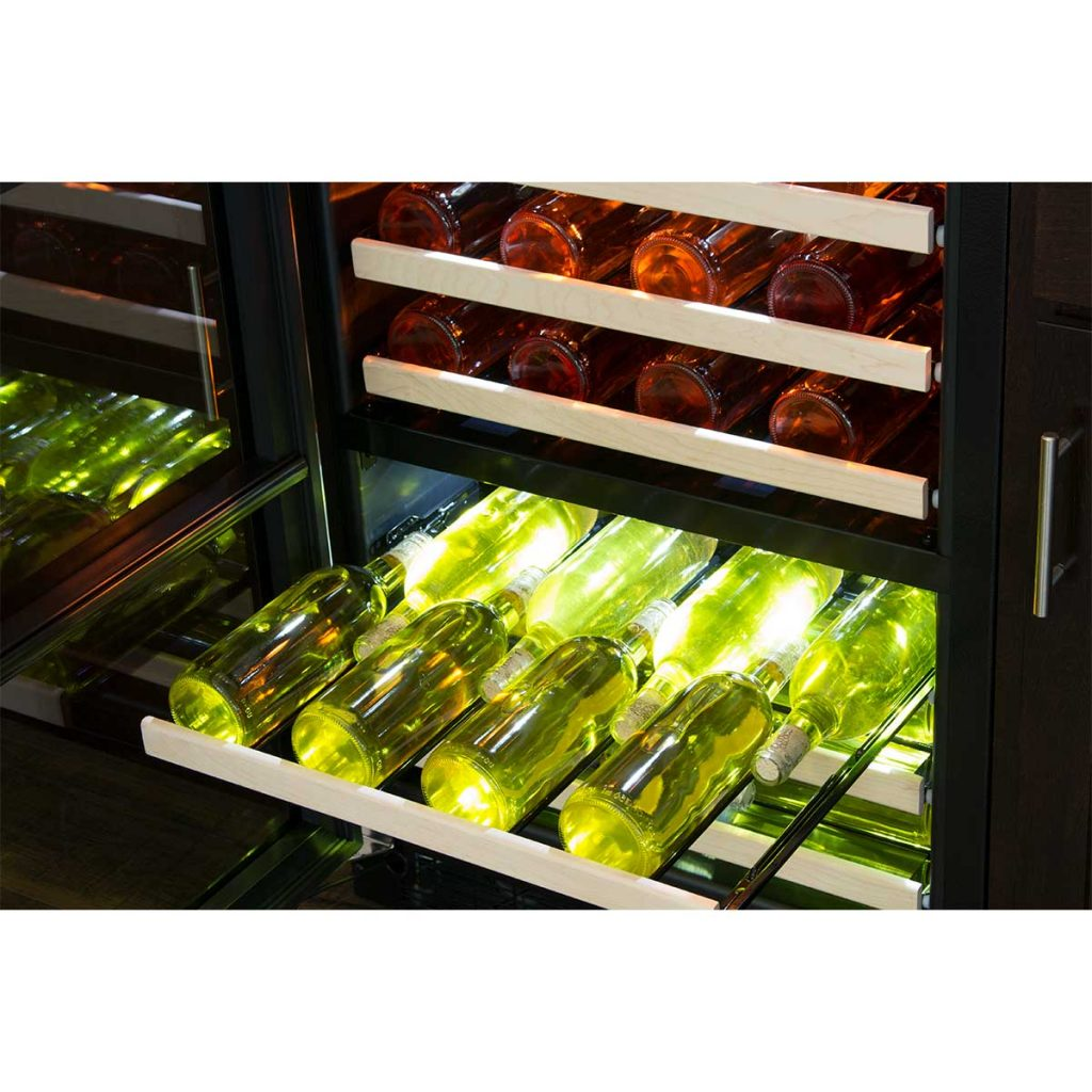 "Marvel  Marvel 24"" High Efficiency Dual Zone Wine Refrigerator- Stainless Frame, Glass Door"