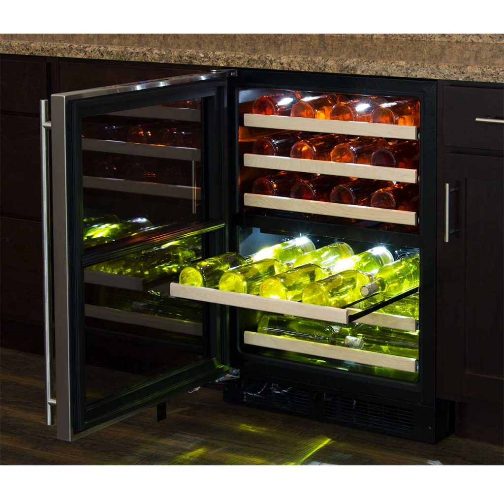 "Model: ML24WDG3LS | Marvel  Marvel 24"" High Efficiency Dual Zone Wine Refrigerator- Stainless Frame, Glass Door"