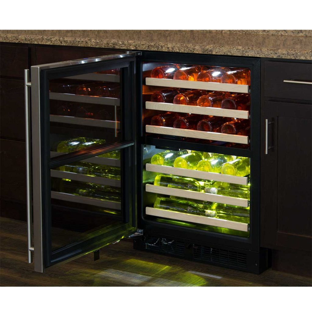 "Model: ML24WDF4RP | Marvel  Marvel 24"" High Efficiency Dual Zone Wine Refrigerator-Panel-Ready Framed Glass Door"