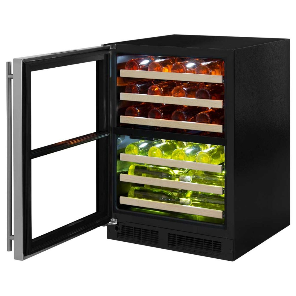 "Model: ML24WDP4LP | Marvel  Marvel 24"" High Efficiency Dual Zone Wine Refrigerator-Panel-Ready Solid Overlay Door"
