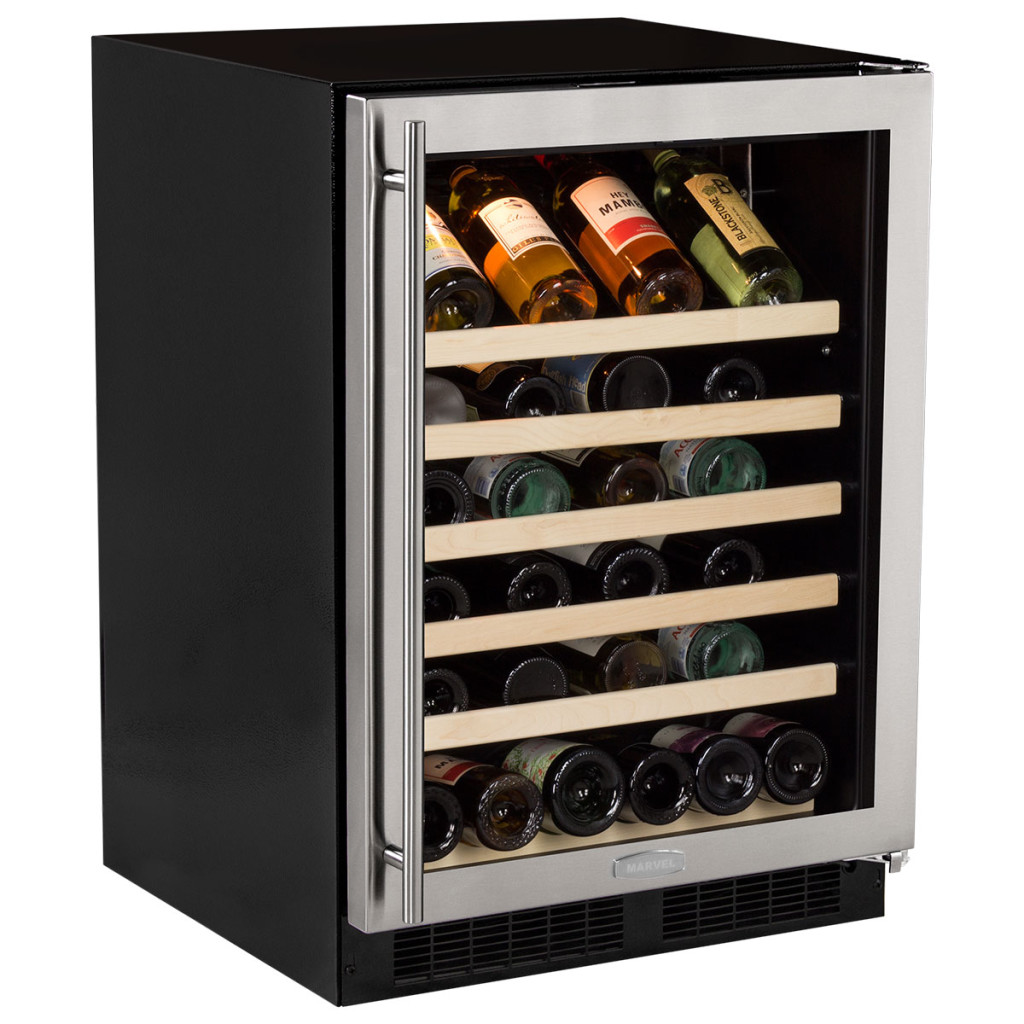 "Marvel  Marvel 24"" Standard Efficiency Single Zone Wine Refrigerator Stainless Steel Frame Glass Door*"