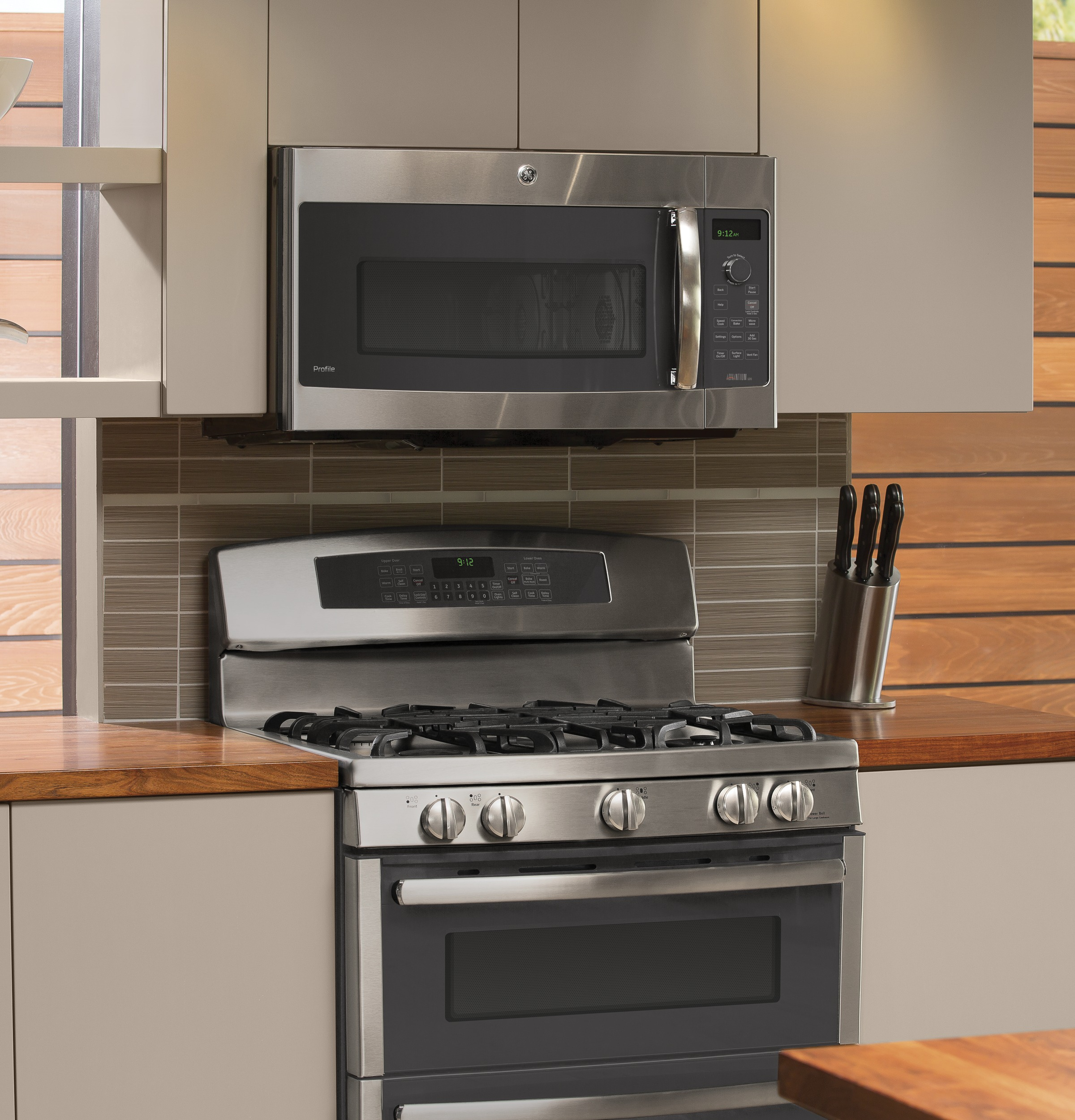 Model: PSA9120SFSS | GE Profile Series Over-the-Range Oven with Advantium® Technology