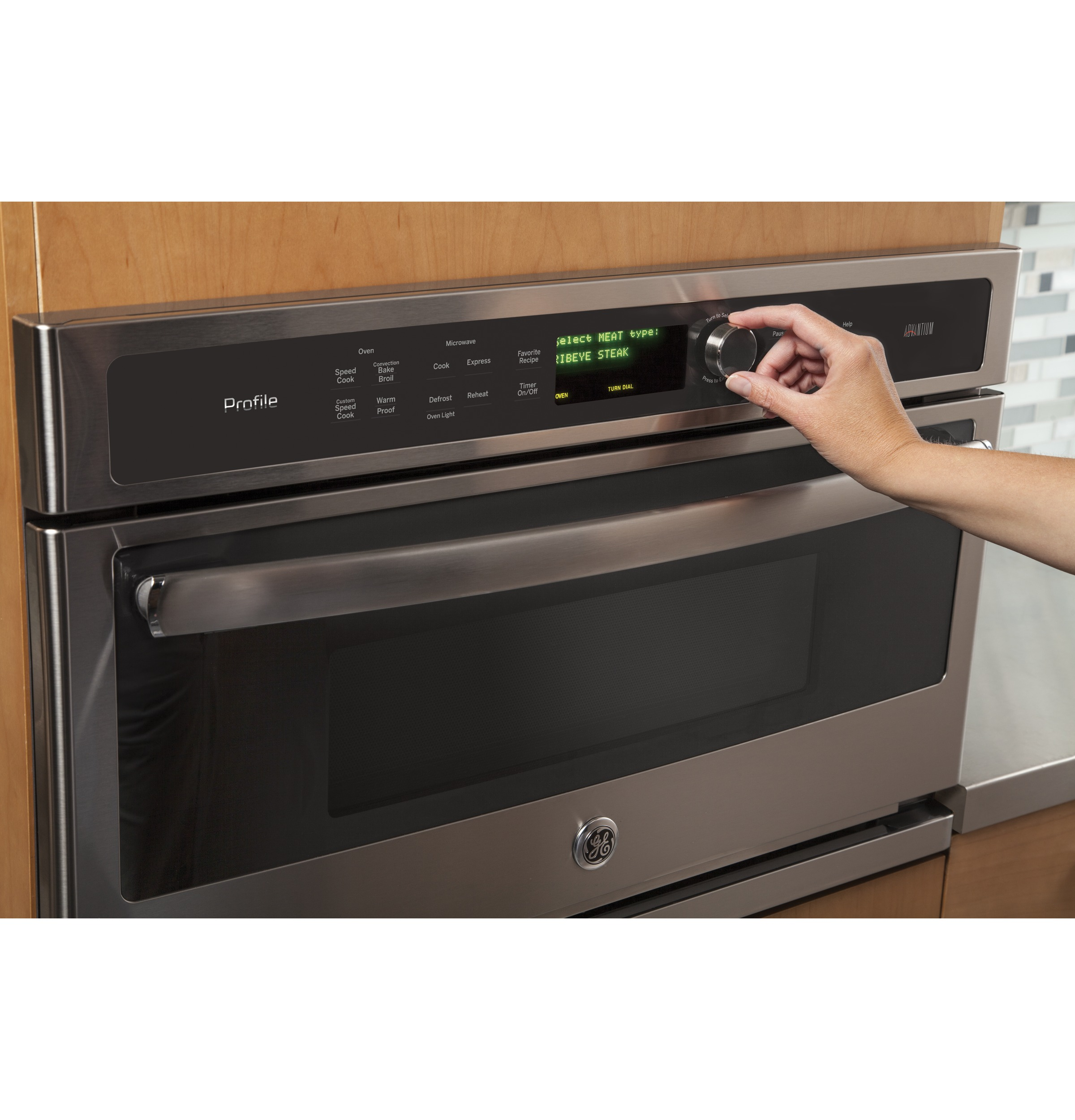 Model: PSB9100SFSS | GE Profile™ Series 27 in. Single Wall Oven Advantium® Technology