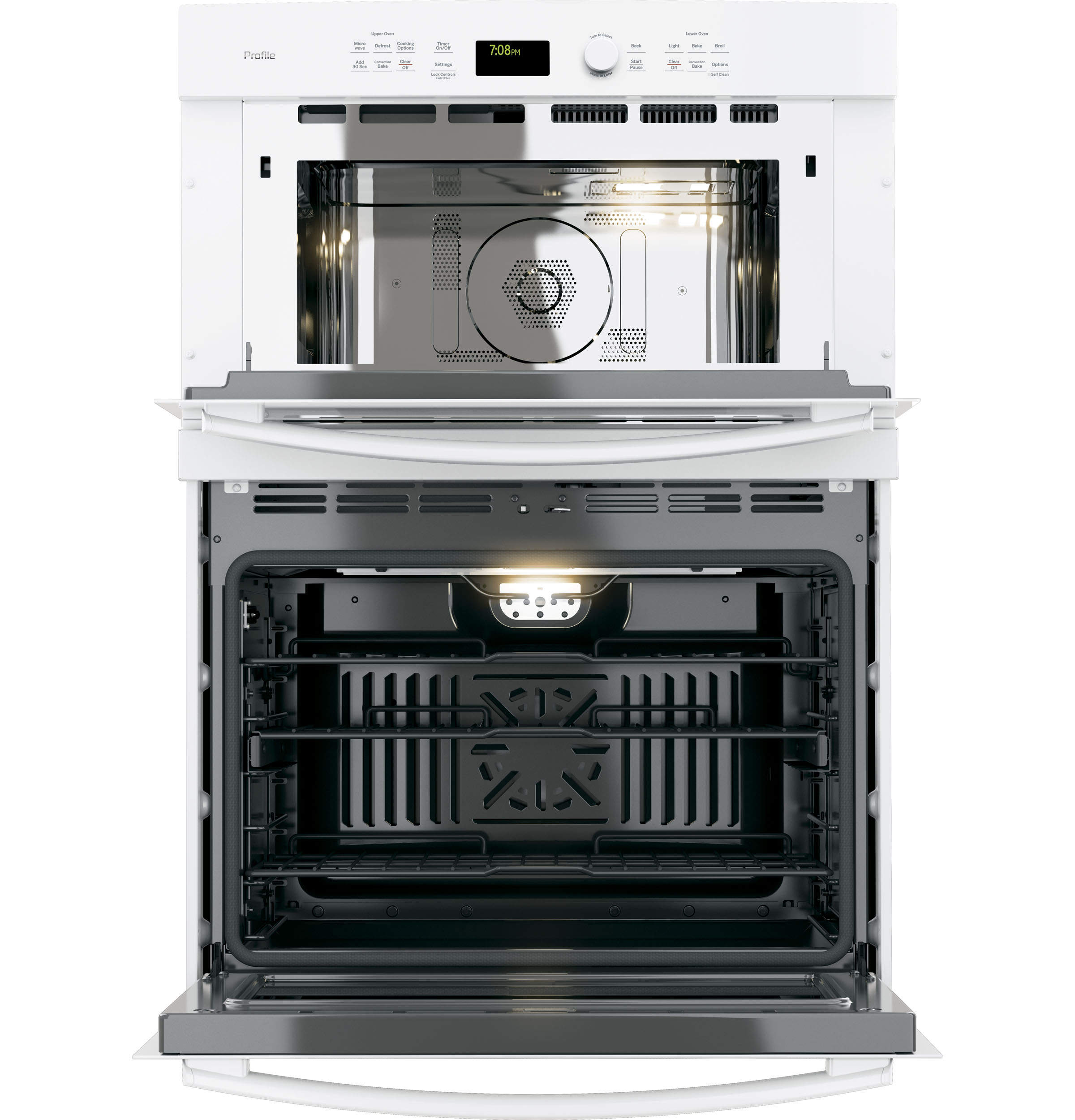 "Model: PT7800DHWW | GE Profile GE Profile™ Series 30"" Built-In Combination Convection Microwave/Convection Wall Oven"