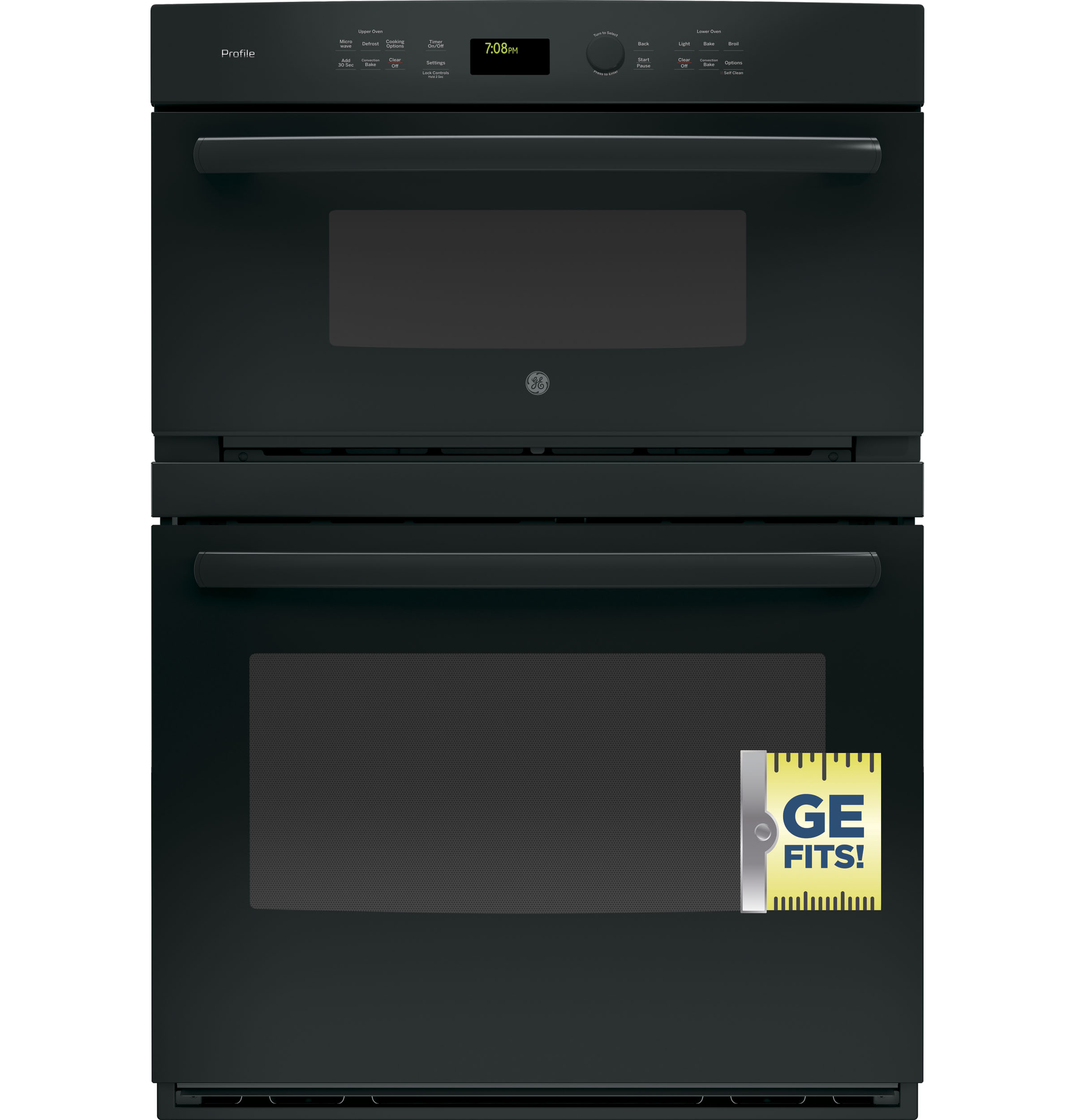 "Model: PT7800DHBB | GE Profile GE Profile™ Series 30"" Built-In Combination Convection Microwave/Convection Wall Oven"