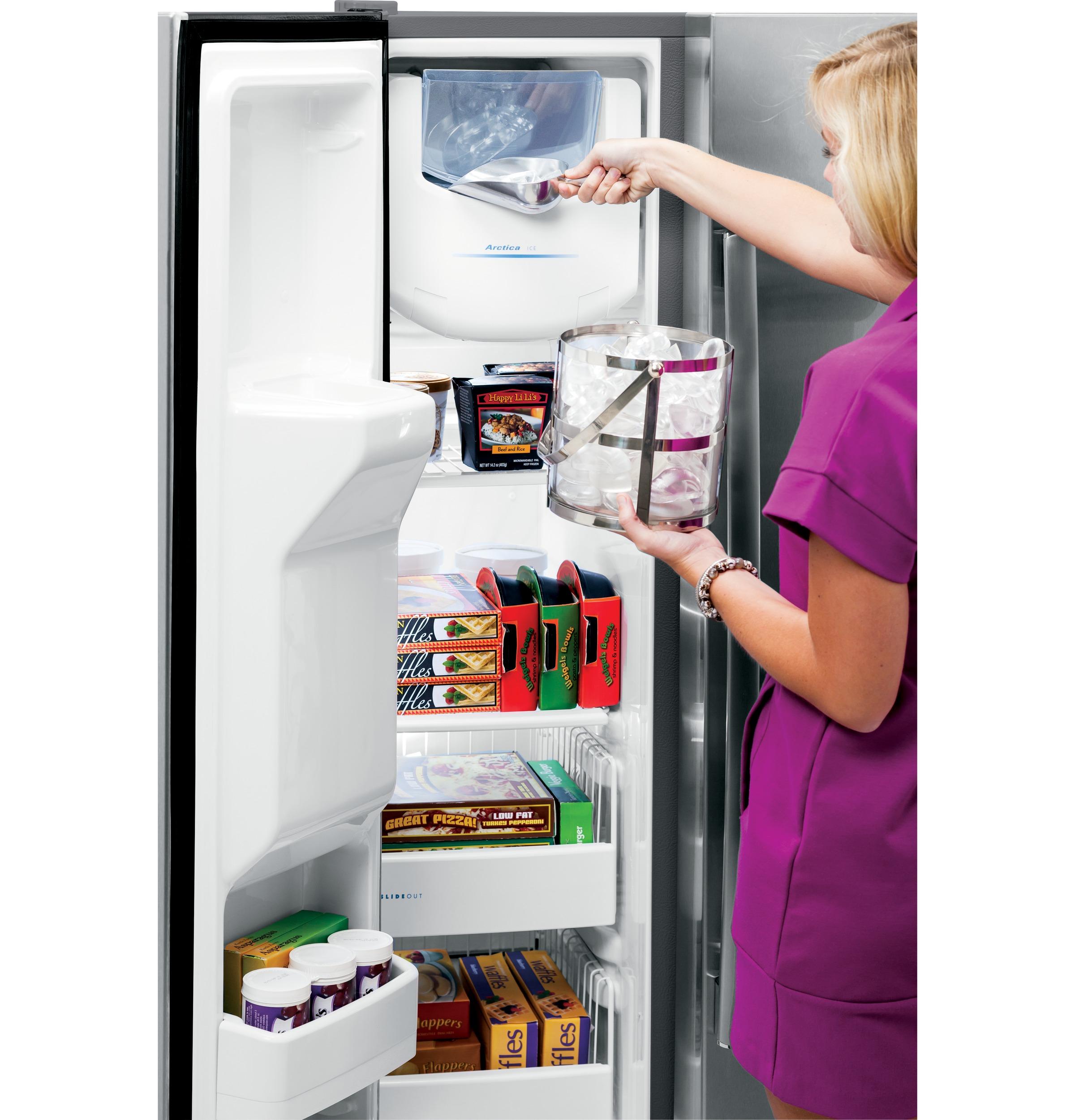 Model: PSE25KSHSS | GE Profile GE Profile™ Series ENERGY STAR® 25.3 Cu. Ft. Side-by-Side Refrigerator