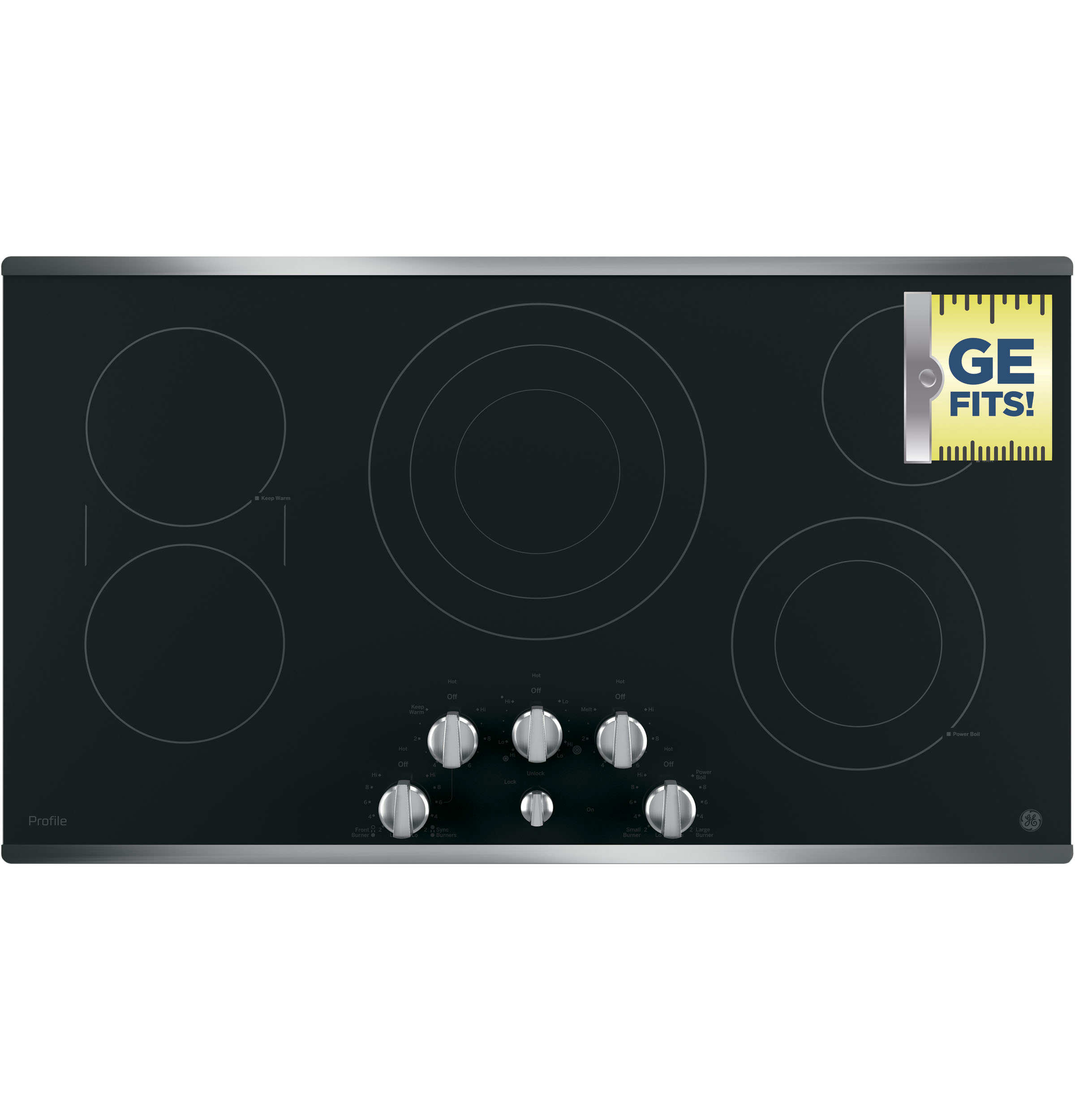 "Model: PP7036SJSS | GE Profile GE Profile™ Series 36"" Built-In Knob Control Cooktop"