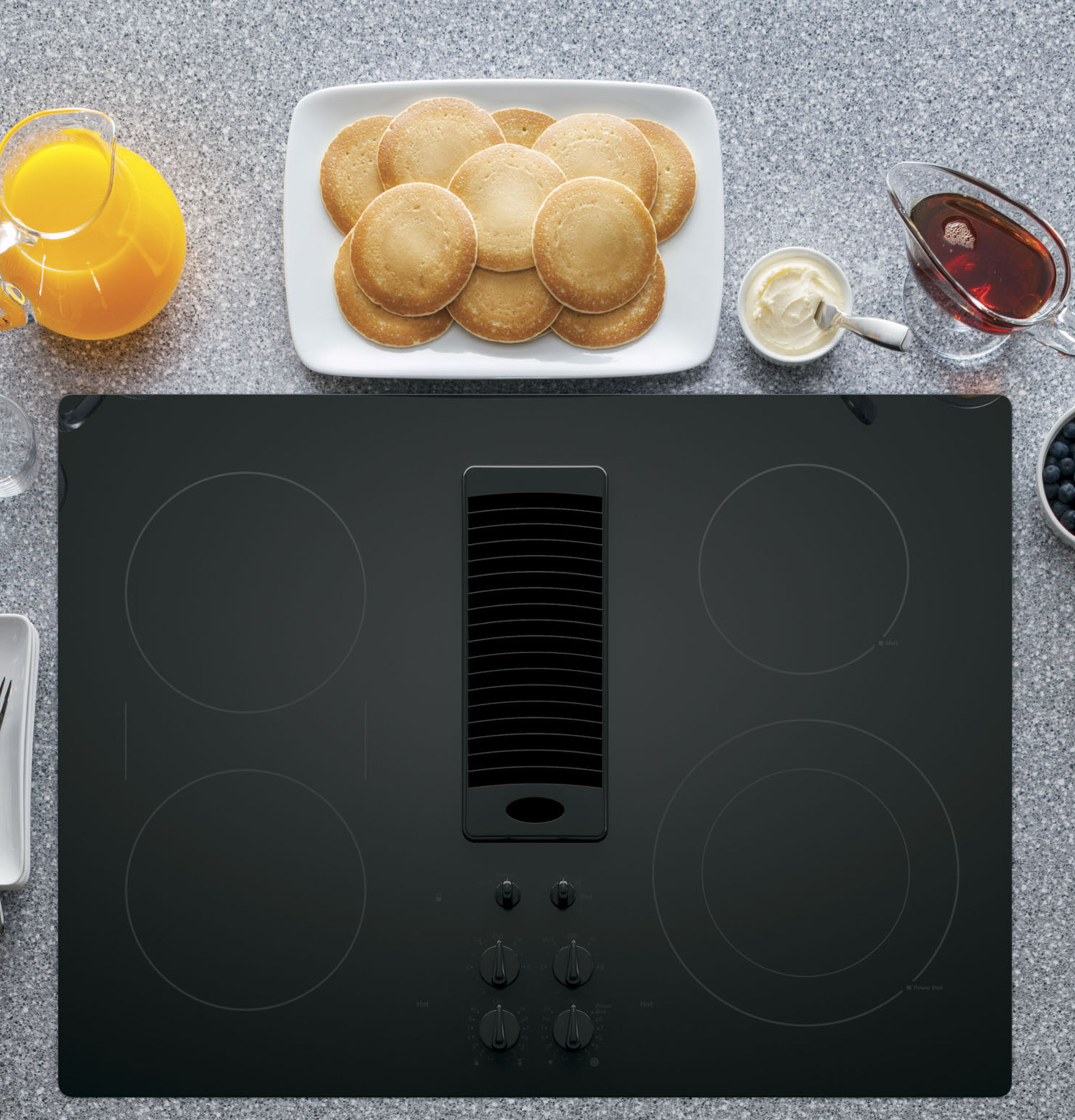 "Model: PP9830DJBB | GE Profile GE Profile™ Series 30"" Downdraft Electric Cooktop"